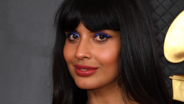 Jameela Jamil aux Grammy Awards, en janvier 2020.