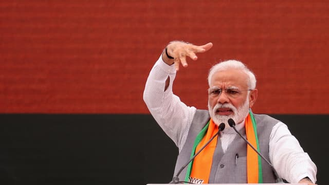 Narenda Modi donne un speech