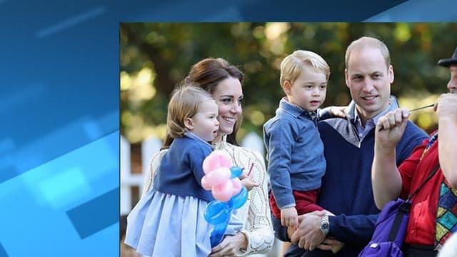 William, Kate, George et Charlotte, en visite au Canada.