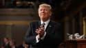 Donald Trump lors de son premier discours face au Congrès le 28 février.