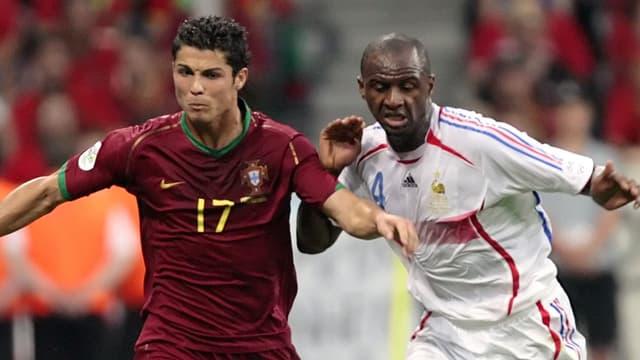 Cristiano Ronaldo et Patrick Vieira, en 2006