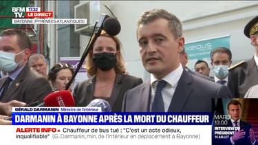 """Gérald Darmanin en déplacement à Bayonne: """"Trop souvent dans notre société désormais, l'autorité est contestée"""""""
