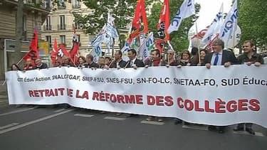 Réforme du collège publié au JO: les syndicats d'enseignants dénoncent un passage en force