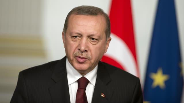 Recep Teyyip Erdogan à l'Elysée, le 31 octobre 2014.