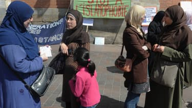 Manifestantes contre l'islamophobie en 2011 à Toulouse.
