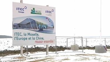 Le futur site de Terra Moselle, à Illange, est actuellement recouvert de neige. 250.000m² de bureaux devraient y être construits d'ici 2014.
