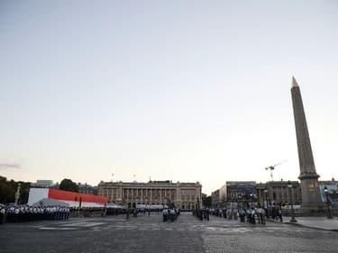 Les répétitions de la cérémonie militaire qui doit se tenir le 14 juillet.