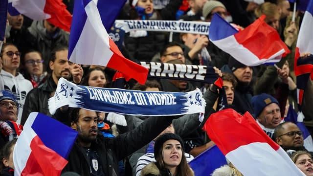 Les supporters des Bleus au Stade de France