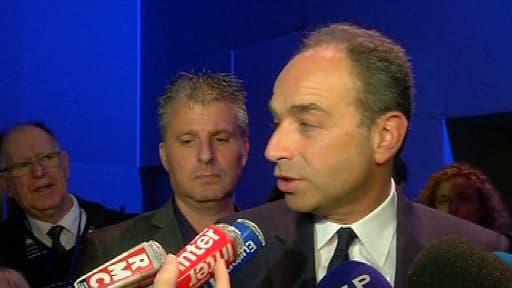 Le président de l'UMP Jean-François Copé, ce samedi matin au Conseil national de l'UMP.