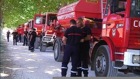 Sécheresse: 500 pompiers mobilisés dans l'Hérault