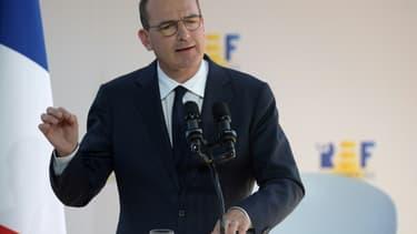 Le Premier ministre, Jean Castex, lors de l'université du Medef, le 26 août 2020 à Paris, a beaucoup insisté sur le rôle essentiel des entreprises pour la réussite du plan de relance.
