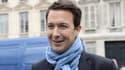 Guillaume Peltier le 27 mai 2014 devant le siège de l'UMP à Paris.