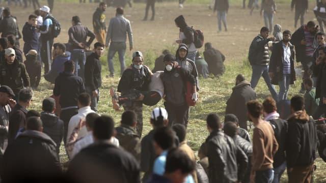 Des palestiniens dans la bande de Gaza ce vendredi.