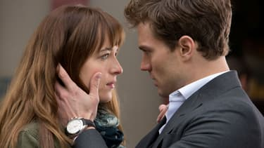 "Jamie Dornan et Dakota Johnson dans ""50 Nuances de Grey"" en 2015"