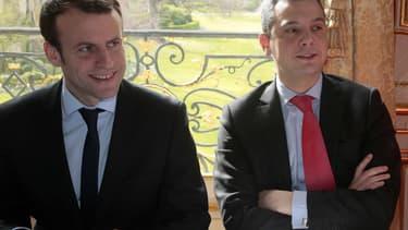 Emmanuel Macron et Alexis Kohler, nouveau secrétaire général de l'Elysée.