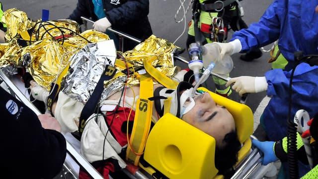 Robert Kubica après son accident