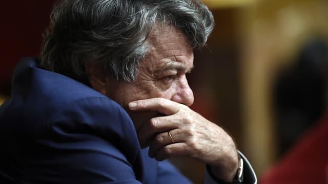 L'ancien ministre Jean-Louis Borloo, le 3 novembre 2015 à l'Assemblée nationale à Paris lors d'une session de questions au gouvernement.