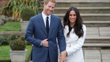 Le prince Harry et sa future épouse Meghan Markle, le 27 novembre 2017.