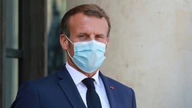 Le président Emmanuel Macron, le 26 août 2020 à l'Elysée à Paris