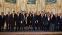 Jean-Marc Ayrault, accompagné de plusieurs de ses ministres, a reçu des chefs d'entreprises internationales dimanche à Matignon.