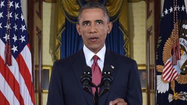 Barack Obama a annoncé des frappes aériennes en Syrie, lors de sa déclaration solennelle mercredi à Washington.