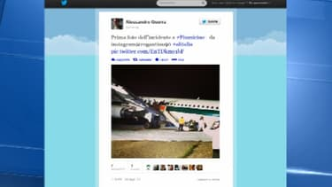 Sur Twitter, des témoins ont posté des photos de l'accident.