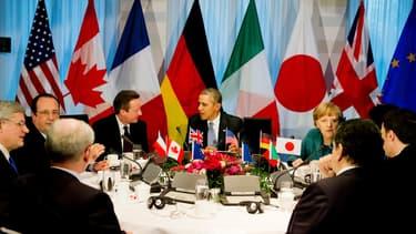 Les dirigeants du G7 réunis à La Haye, aux Pays-Bas, le 24 mars, en marge du Sommet sur la sécurité nucléaire.