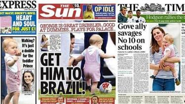 Les une de la presse britannique sur le bébé royal George.
