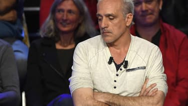 Philippe Poutou lors du débat présidentiel sur BFMTV-RMC.
