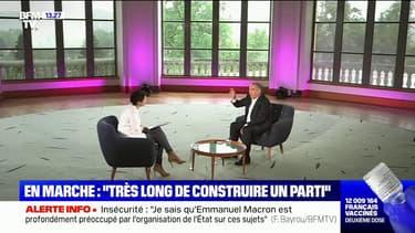 """François Bayrou à propos d'En Marche: """"C'est très long de construire un parti"""""""