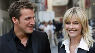 Benjamin Castaldi et Flavie Flament, le 5 septembre 2006