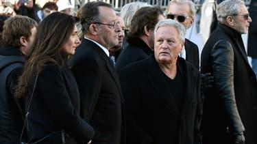 André Boudou lors des obsèques de Johnny Hallyday