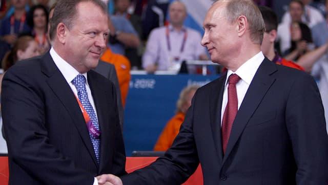 Marius Vizer et Vladimir Poutine