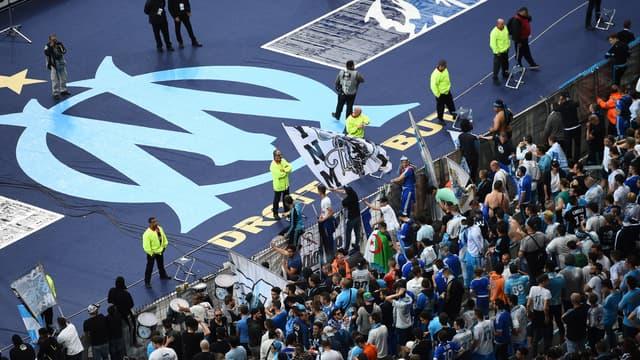 Les supporters de l'OM au Stade de France