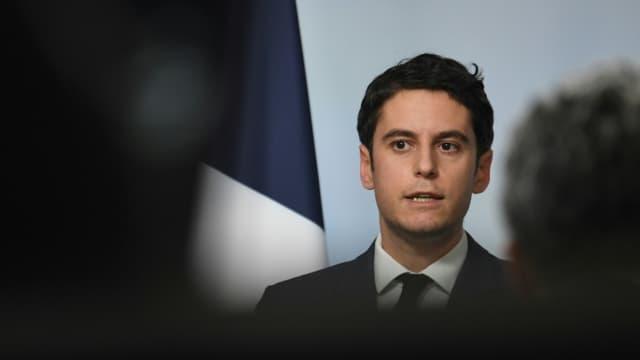 Gabriel Attal le 24 février 2021 à Paris