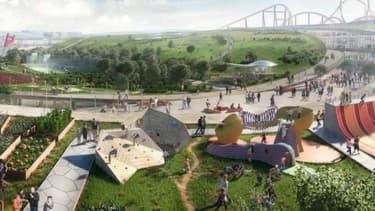 Europacity, une gigantesque surface commerciale, ainsi que des hôtels, des salles de spectacle, un parc aquatique et une piste de ski, devait voir le jour en 2024.