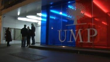 Le siège de l'UMP, rue de Vaugirard à Paris.
