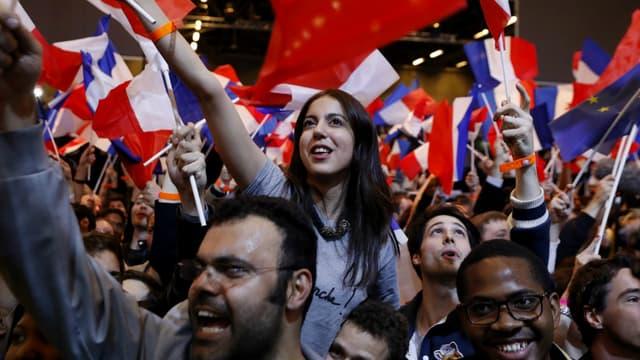 Des partisans d'Emmanuel Macron le 23 avril 2017, au soir du premier tour de la présidentielle (photo d'illustration).