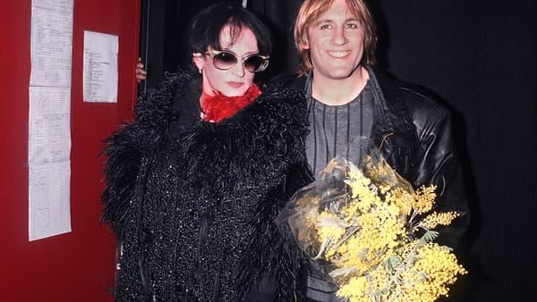 Gérard Depardieu et Barbara en 1986.