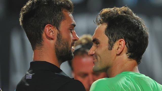 Benoît Paire et Roger Federer