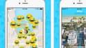 La start-up française a développé une application de réseau social utilisant la géolocalisation avec une précision d'un mètre près.