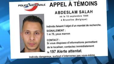 Salah Abdeslam est introuvable depuis le 13 novembre.