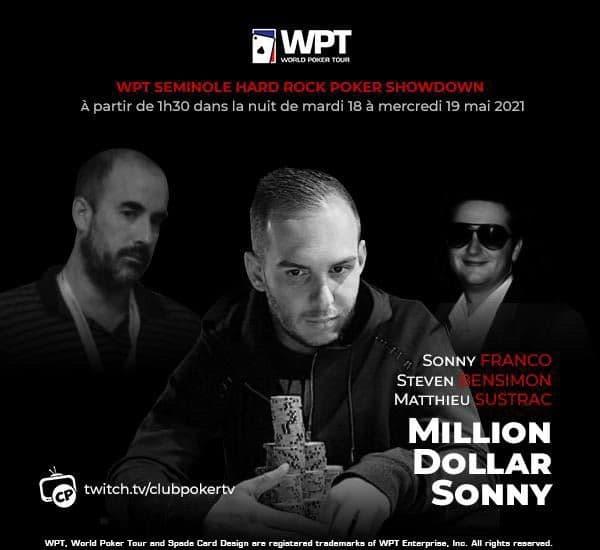 Sonny Franco en finale du WPT, commentée en direct et en français