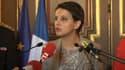 La ministre de l'Education Najat Vallaud-Belkacem, ce lundi à Marseille.
