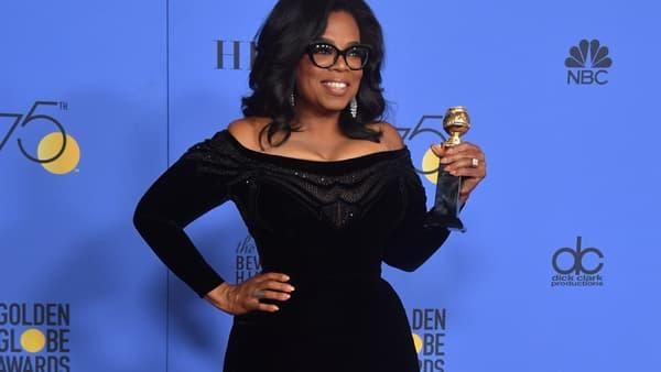 Oprah Winfrey lors des Golden Globes le 7 janvier 2018