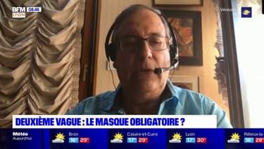 """Pour le médecin lyonnais Marcel Garrigou-Grandchamp, le port du masque est """"la mesure de distanciation sociale numéro 1"""""""