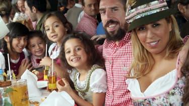 Le joueur Franck Ribéry, expatrié à Munich, savoure, en famille, la douceur de vivre à l'allemande