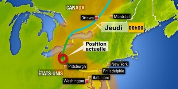 Le cyclone Sandy se dirige vers le Nord.