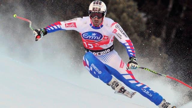 Adrien Théaux avait terminé 3e l'an passé à Kitzbühel.