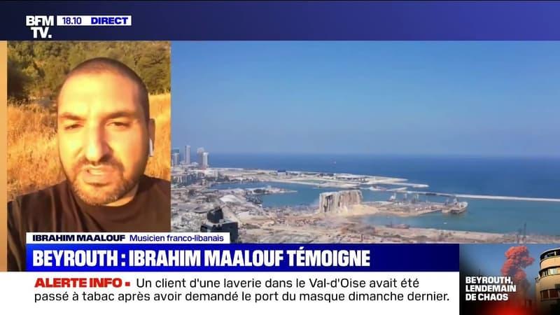 """Ibrahim Maalouf: """"On avait l'impression d'avoir été bombardés comme à l'époque de la guerre"""""""